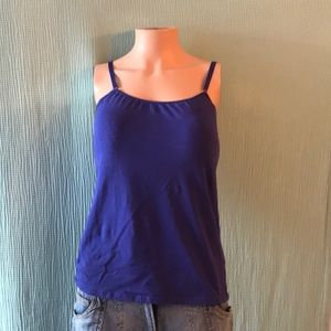 Blue cami with soft cup bra and underwire.38D